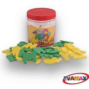 Brinquedo Pedagógico Eva Pq Abc 5Mm 5X3Cm 62Pcs 2Abc/2V Evamax