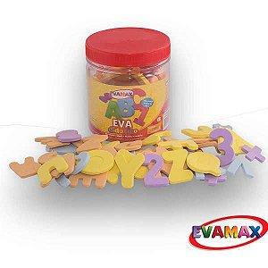 Brinquedo Pedagógico Eva Pq Alfan 5Mm 5X3Cm 92Pcs 2Abc/ Evamax