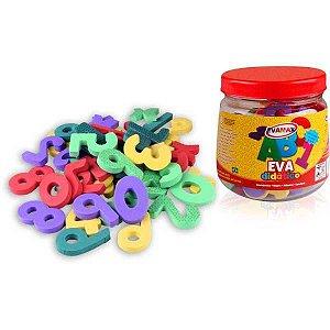 Brinquedo Pedagógico Eva Pq Numeros 5Mm 5X3Cm 105Pcs Evamax