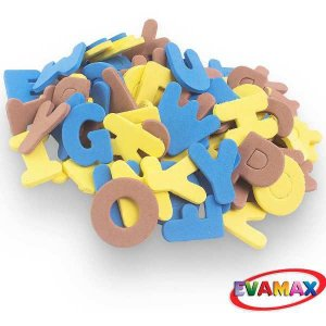 Brinquedo Pedagógico Eva Recortado Abc+Vog Gd 31Pc 5Cm Evamax