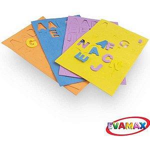 Brinquedo Pedagógico Eva Recortado Abc+Vog Md 124Pc 3Cm Evamax