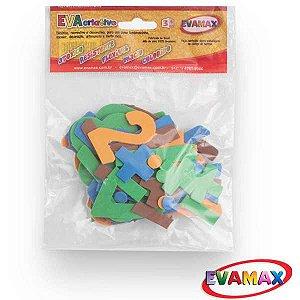 Brinquedo Pedagógico Eva Recortado Números Gd 60 Pc 5Cm Evamax