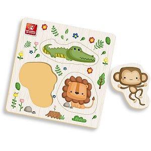 Brinquedo Pedagógico Madeira Ache Encaixe Safari Pequeno Brinc. De Crianca