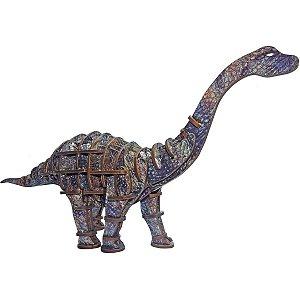 Brinquedo Pedagógico Madeira Apatosaurus 3D 60 Pecas Brinc. De Crianca