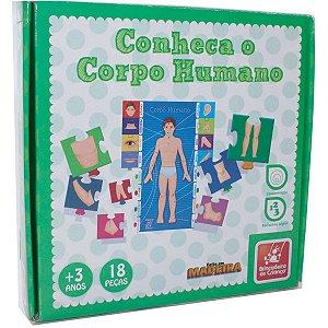 Brinquedo Pedagógico Madeira Conheca O Corpo Humano Brinc. De Crianca
