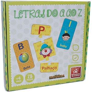 Brinquedo Pedagógico Madeira Letras Do A Ao Z 78 Pecas Brinc. De Crianca