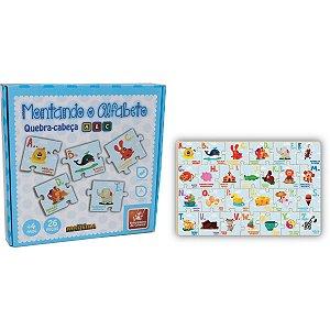 Brinquedo Pedagógico Madeira Montando O Alfabeto 26 Pecas Brinc. De Crianca