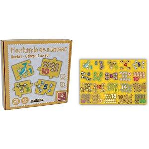 Brinquedo Pedagógico Madeira Montando Os Numeros 1 Ao 20 Brinc. De Crianca