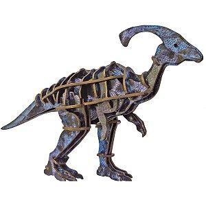 Brinquedo Pedagógico Madeira Parasaurolophus 3D 39 Pecas Brinc. De Crianca
