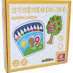 Brinquedo Pedagógico Madeira Quebra Cabeca Numeros 1 Ao 10 Brinc. De Crianca
