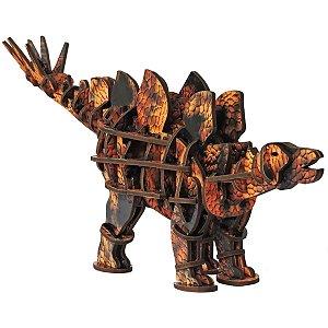 Brinquedo Pedagógico Madeira Stegosaurus 3D 70Pecas Brinc. De Crianca
