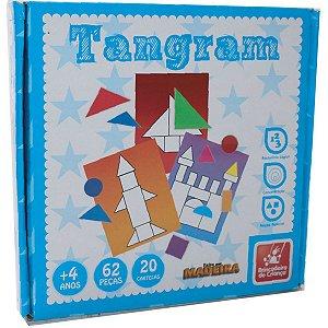 Brinquedo Pedagógico Madeira Tangram 62 Pecas Brinc. De Crianca