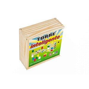 Brinquedo Pedagógico Madeira Torre Inteligente 18Placas Carlu