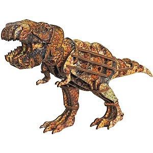 Brinquedo Pedagógico Madeira T-Rex 3D 51Pecas Brinc. De Crianca