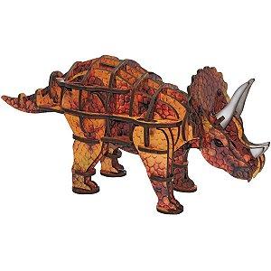Brinquedo Pedagógico Madeira Triceratops 3D 52 Pecas Brinc. De Crianca
