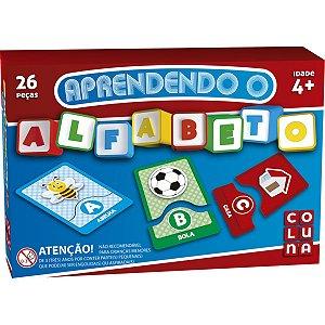 Brinquedo Pedagógico Aprendendo O Alfabeto 26Pçs Coluna