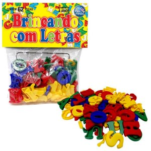Brinquedo Pedagógico Brincando Com Letras 62 Pecas Pais E Filhos