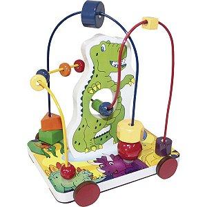 Brinquedo Pedagógico Dinossauro Aramado Carlu