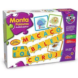 Brinquedo Pedagógico Monta Palavras Elka