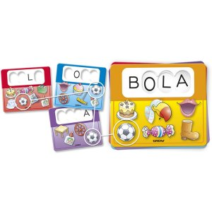 Brinquedo Pedagógico Primeiras Palavras C/15 Cart. Grow