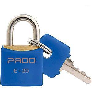 Cadeado Colorido Azul Sm Lt-20Mm Pado