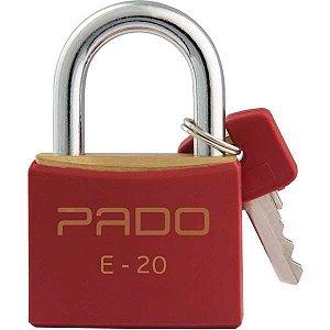 Cadeado Colorido Vermelho Sm Lt-20Mm Pado