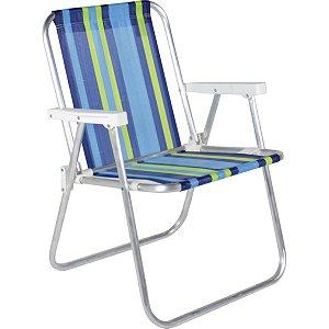 Cadeira P/piscina/praia Alta De Aluminio 54X54X70 Belfix