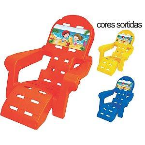 Cadeira P/piscina/praia Plástico Infantil Cores Sort. Braskit