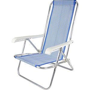 Cadeira P/piscina/praia Reclinavel 4Posiçoes 73X54X84 Belfix