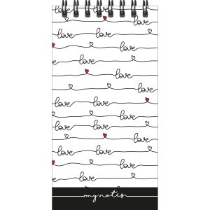 Caderneta Apontamento 1/16 Espiral Wire-O 30Fls. Pauta Branca