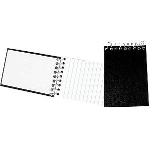 Caderneta Apontamento 1/16 Preta C.d Espiral 64F Tamoio