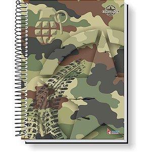 Caderno 01X1 Capa Dura 2021 Camuflagem 80F Tamoio
