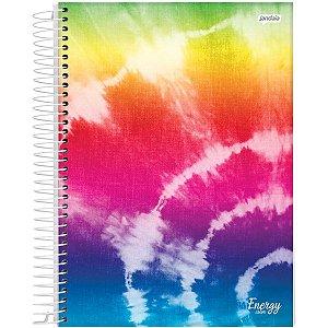 Caderno 01X1 Capa Dura 2021 Energy Color 80Fls. Jandaia