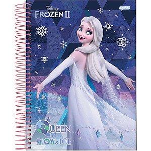 Caderno 01X1 Capa Dura 2021 Frozen 80Fls. Jandaia