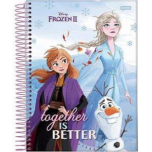 Caderno 01X1 Capa Dura 2021 Frozen Basic 80Fls. Jandaia