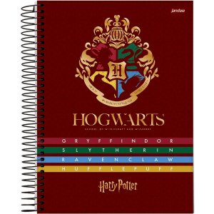 Caderno 01X1 Capa Dura 2021 Harry Potter College 80Fls. Jandaia