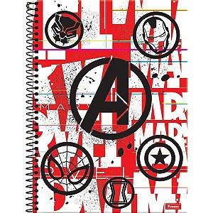 Caderno 01X1 Capa Dura 2021 Marvel Red Brick 80Fls. Foroni