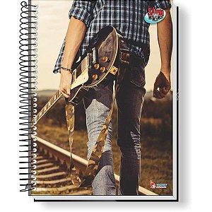 Caderno 01X1 Capa Dura 2021 Slim Pop 80F Masculino Tamoio
