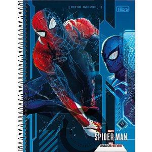 Caderno 01X1 Capa Dura 2021 Spider-Man Game 80Fls. Tilibra