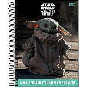 Caderno 01X1 Capa Dura 2021 Star Wars The Child 80Fls. Jandaia