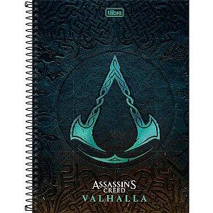 Caderno 10X1 Capa Dura 2021 Assassins Creed Valhalla 160F Tilibra