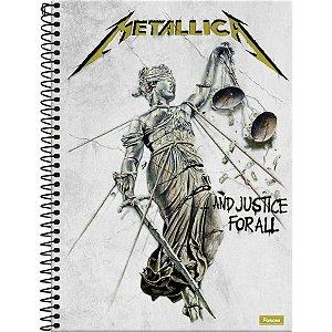 Caderno 10X1 Capa Dura 2021 Bandas De Rock 160Fls. Foroni