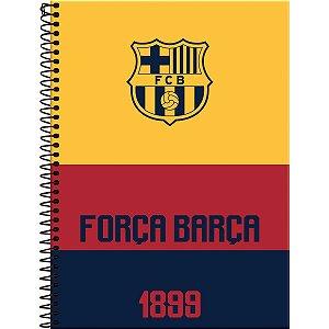 Caderno 10X1 Capa Dura 2021 Barcelona 200 Folhas Foroni