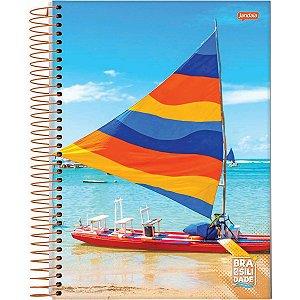 Caderno 10X1 Capa Dura 2021 Brasilidade 200 Folhas Jandaia
