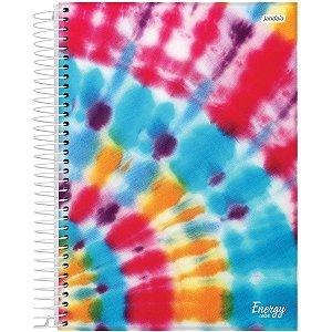 Caderno 10X1 Capa Dura 2021 Energy Color 160Fls. Jandaia