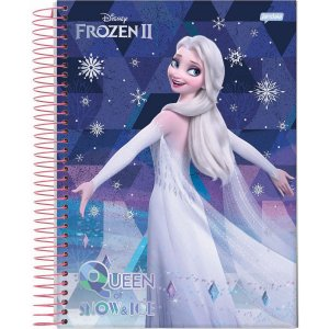 Caderno 10X1 Capa Dura 2021 Frozen 160Fls. Jandaia