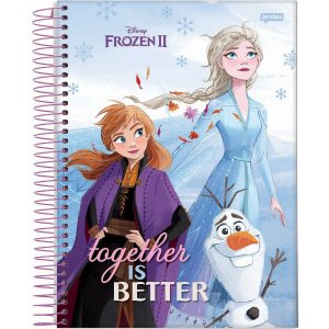 Caderno 10X1 Capa Dura 2021 Frozen Basic 160Fls. Jandaia