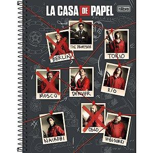 Caderno 10X1 Capa Dura 2021 La Casa De Papel 160Fls. Tilibra