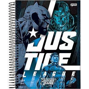 Caderno 10X1 Capa Dura 2021 Liga Da Justiça Dark 160Fls. Jandaia