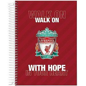 Caderno 10X1 Capa Dura 2021 Liverpool 160Fls. Jandaia